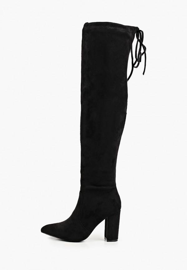женские ботфорты super mode, черные