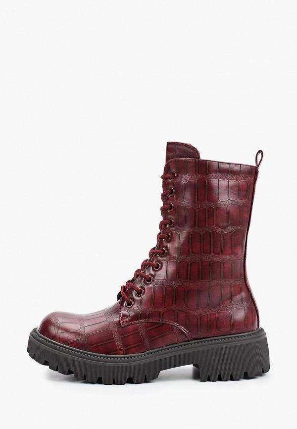 женские высокие ботинки la bottine souriante, бордовые