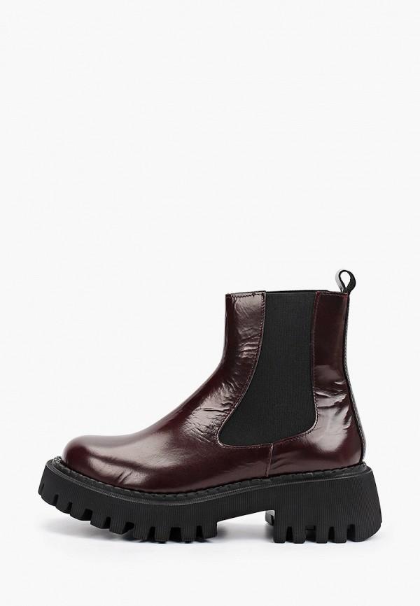 женские ботинки-челси lamania, бордовые