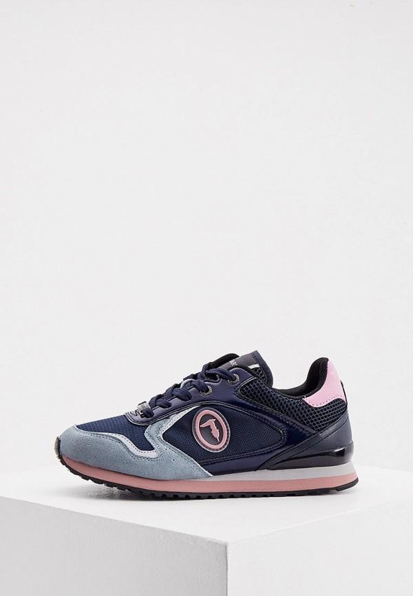 женские низкие кроссовки trussardi, синие