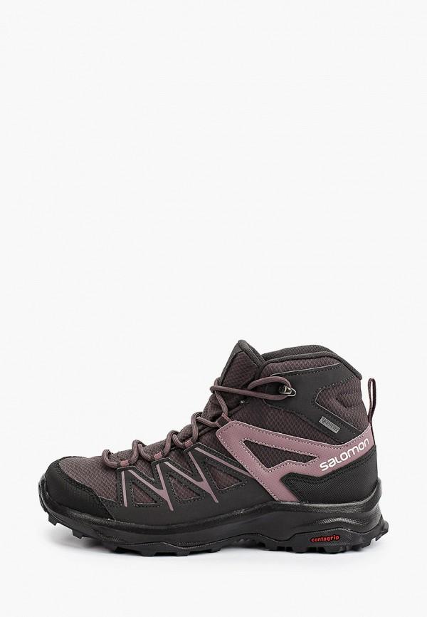 женские ботинки salomon, розовые