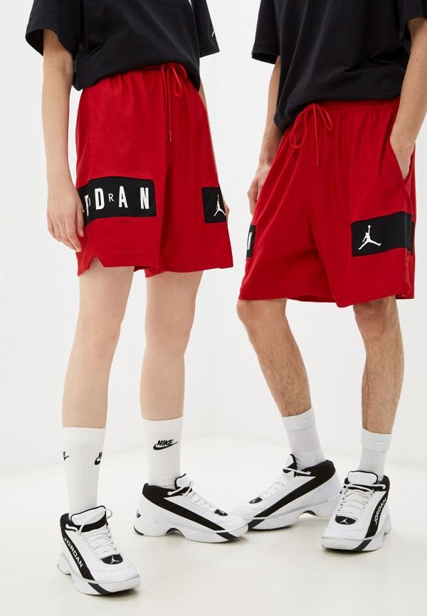 женские спортивные шорты jordan, красные