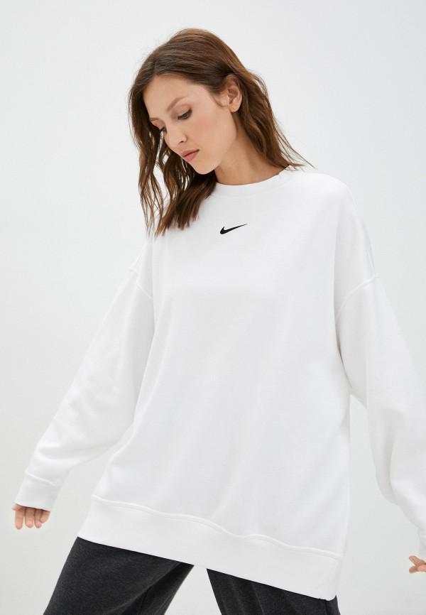 женский спортивные свитшот nike, белый