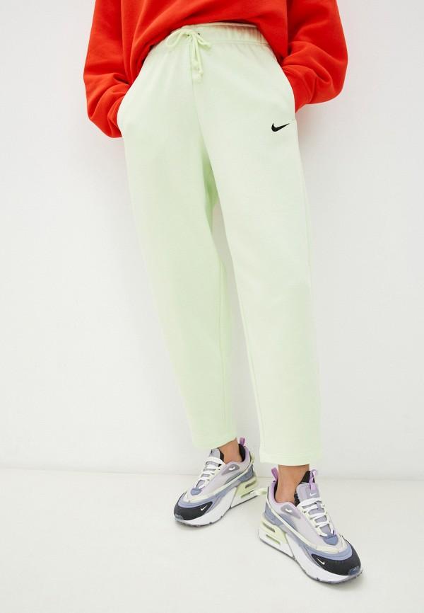 женские спортивные брюки nike, зеленые