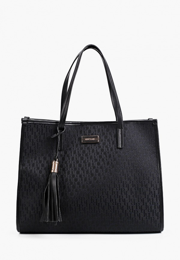 женская сумка-шоперы river island, черная