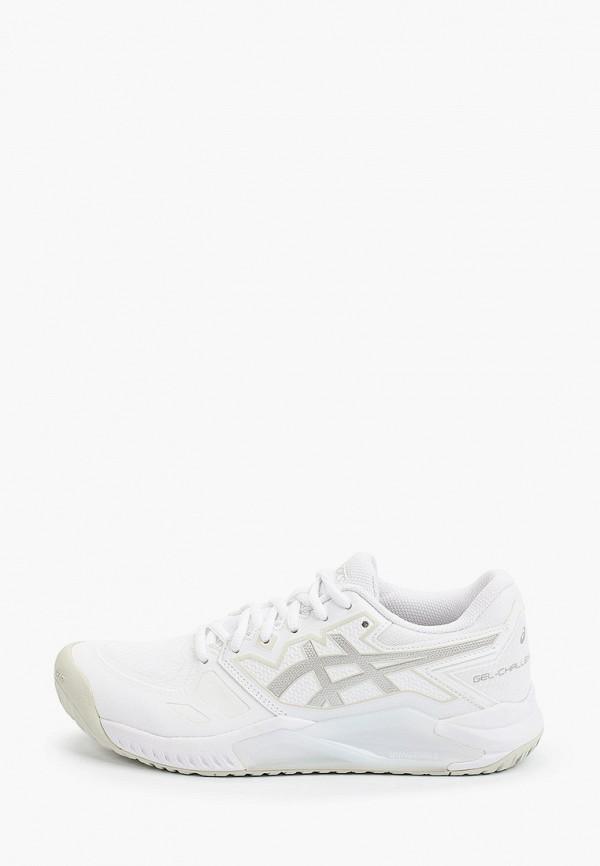 женские низкие кроссовки asics, белые
