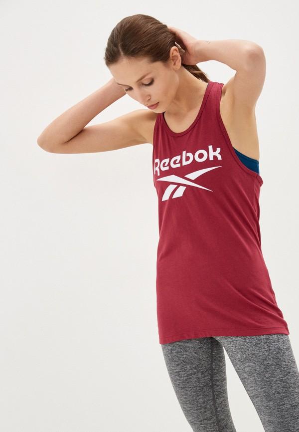 Майка спортивная Reebok бордового цвета