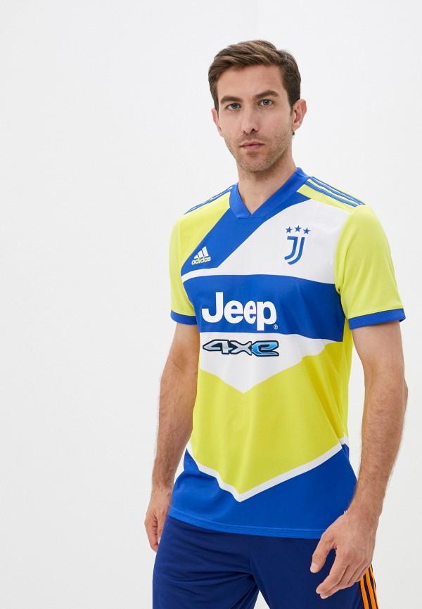 мужская спортивные футболка adidas, разноцветная