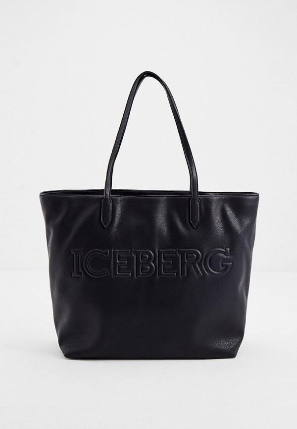 женская сумка-шоперы iceberg, черная