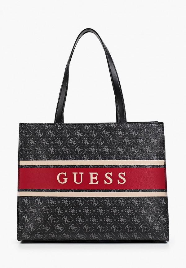 женская сумка-шоперы guess, черная