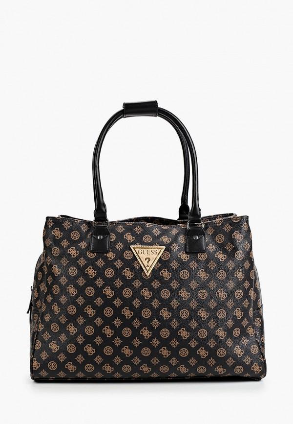 женская дорожные сумка guess, черная