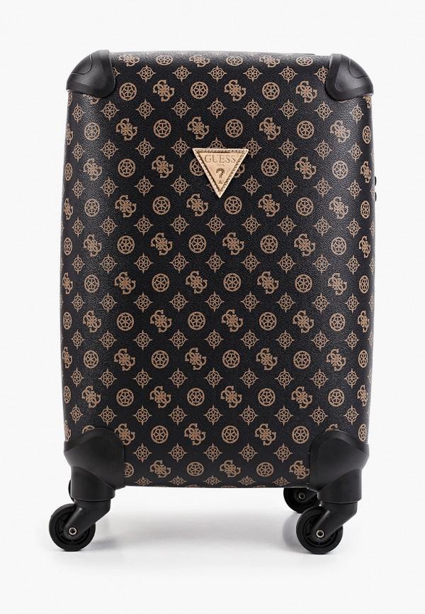 женский чемодан guess, коричневый