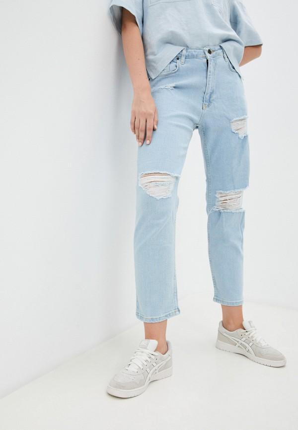 женские джинсы бойфренд nwc new youth club, голубые