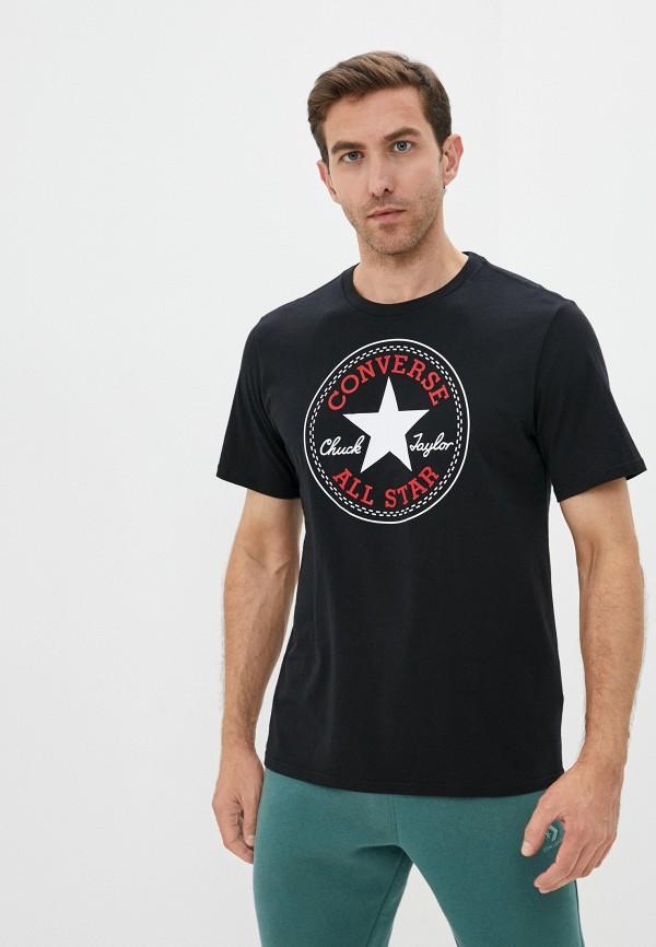 мужская футболка с коротким рукавом converse, черная