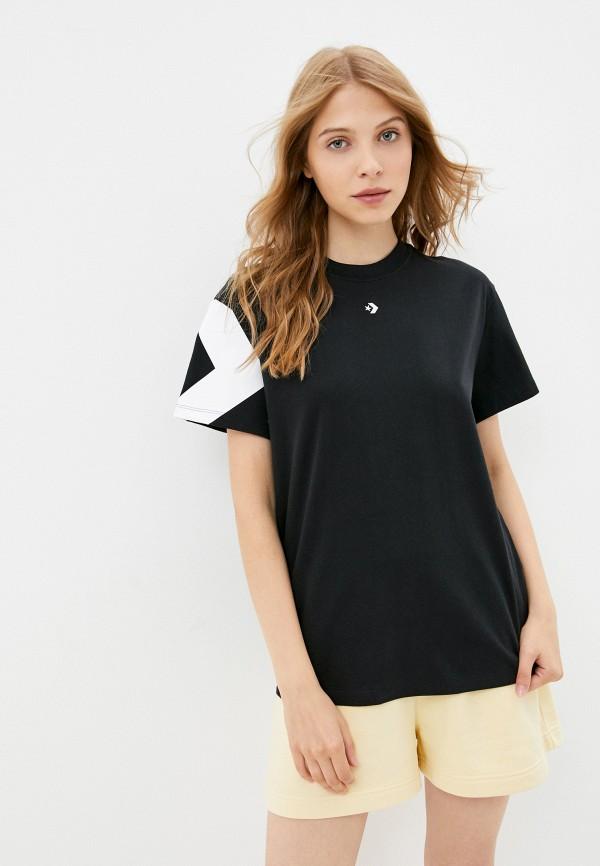 женская футболка converse, черная