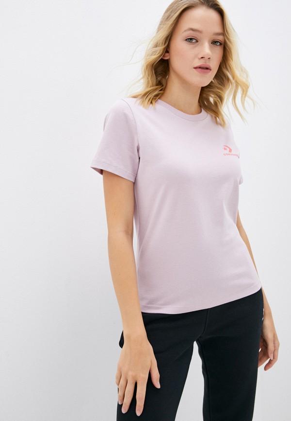 женская футболка converse, розовая