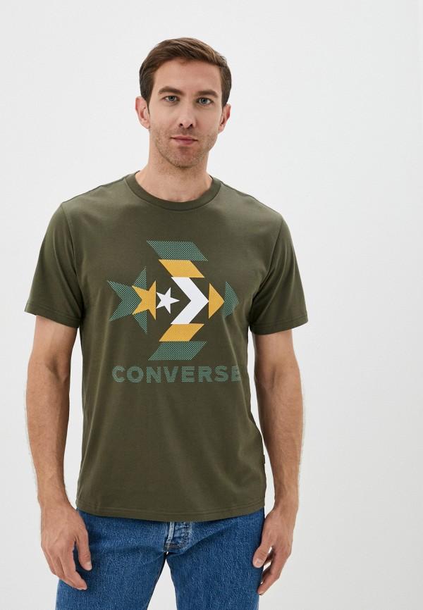 мужская футболка с коротким рукавом converse, хаки