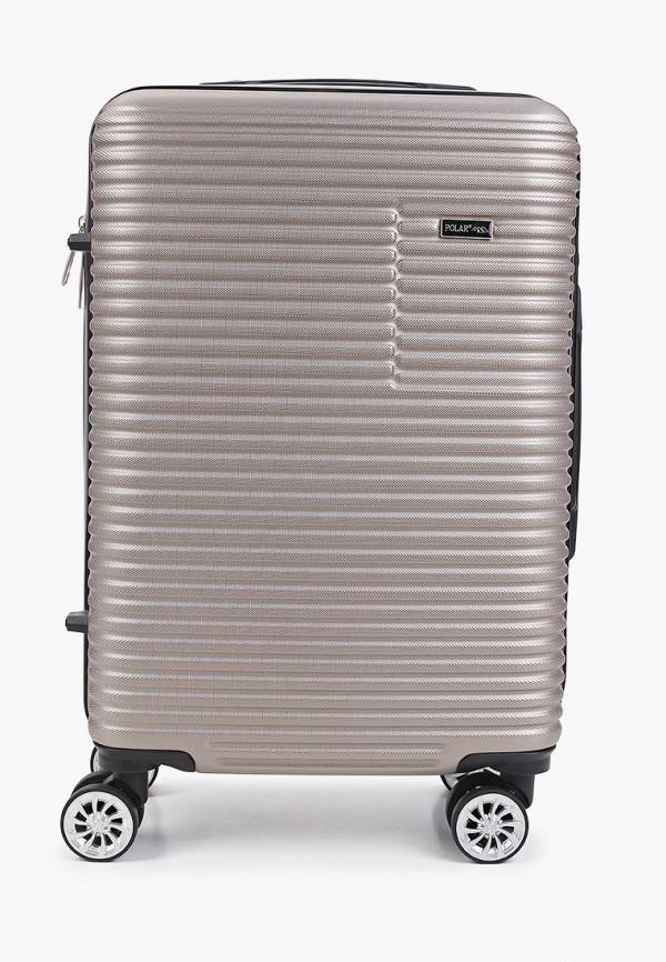женский чемодан polar, коричневый