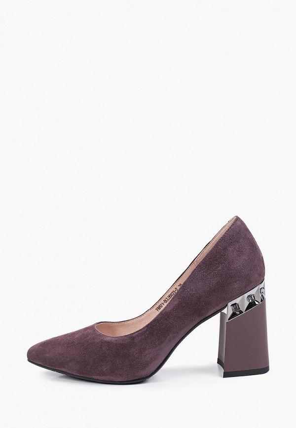 женские туфли с закрытым носом covani, коричневые