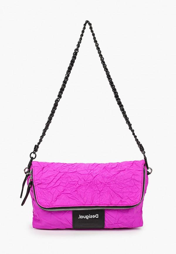 женский кошелёк desigual, розовый