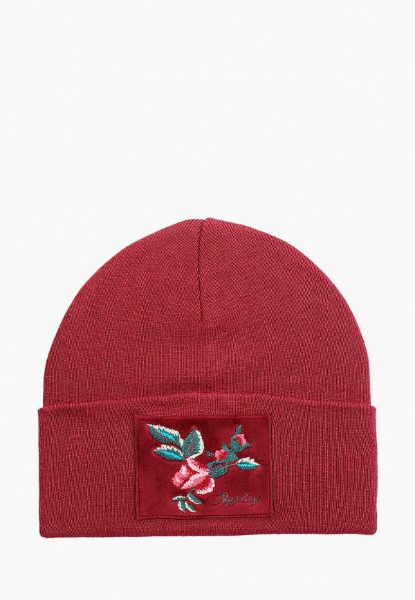 женская шапка replay, бордовая