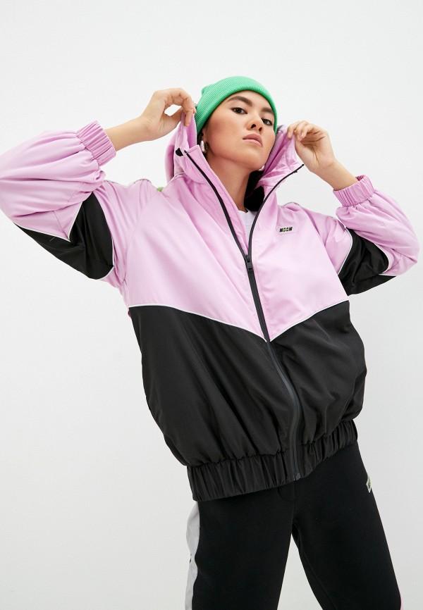 Куртка утепленная MSGM фиолетового цвета