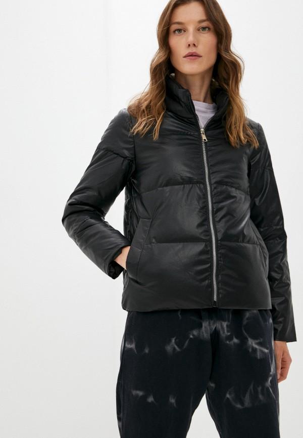 Куртка кожаная Aaquamarina черного цвета