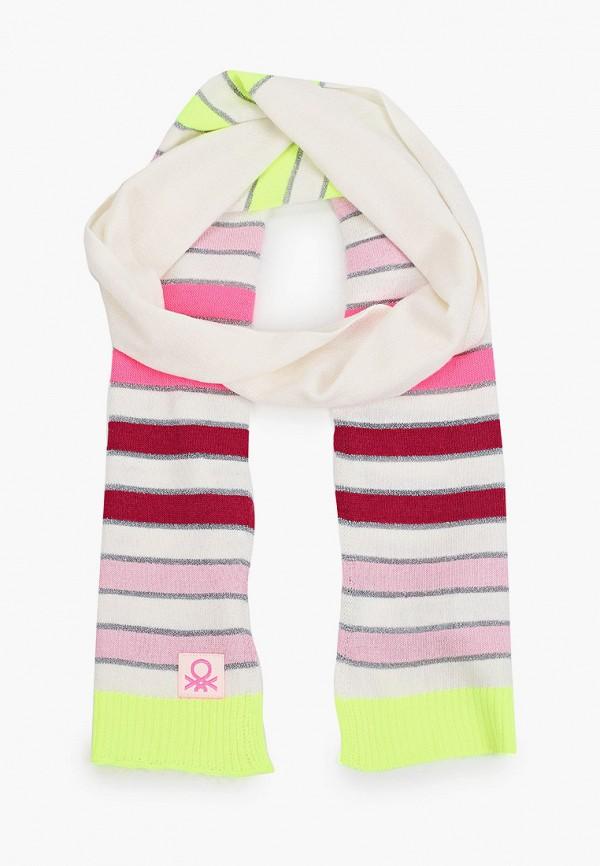 шарф united colors of benetton для девочки, разноцветный