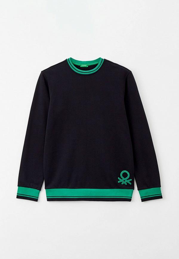 Свитшот United Colors of Benetton черного цвета