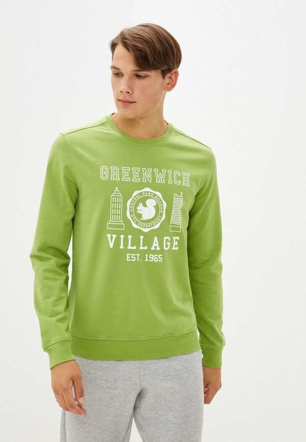 Свитшот United Colors of Benetton зеленого цвета