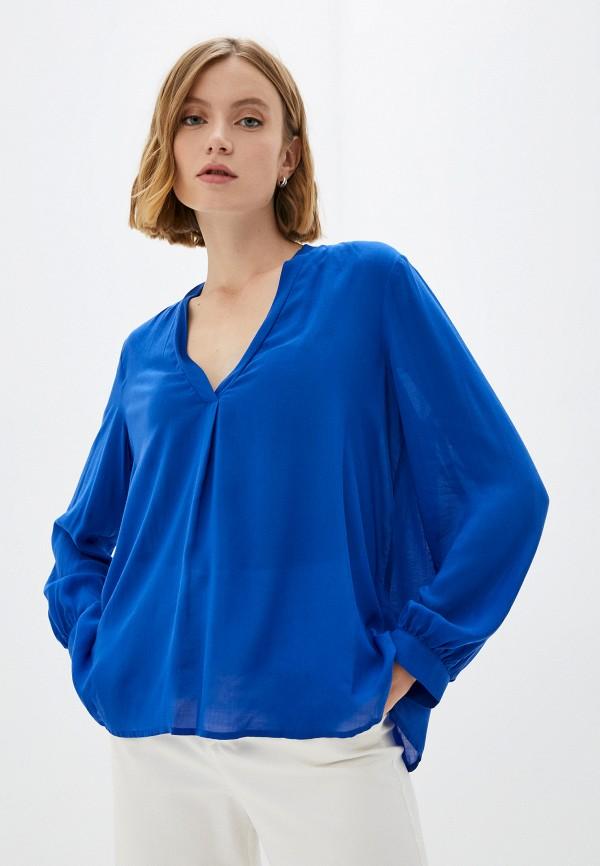 Блуза United Colors of Benetton синий 563U5QD14 RTLAAO103001