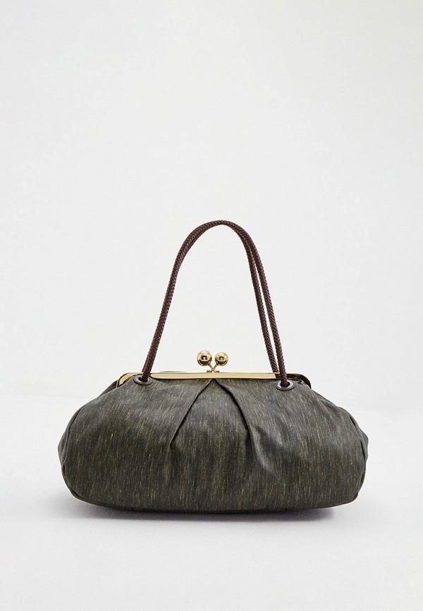 женская сумка с ручками weekend by max mara, хаки