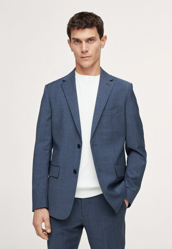 Пиджак Mango Man синего цвета
