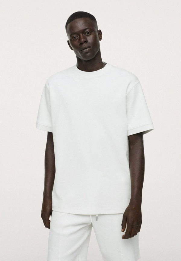 Футболка Mango Man белого цвета