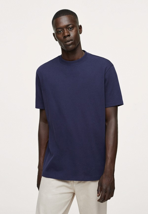 Футболка Mango Man синего цвета
