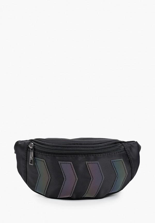поясные сумка котофей для девочки, черная