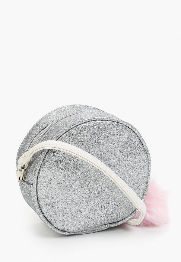 сумка котофей для девочки, серебряная