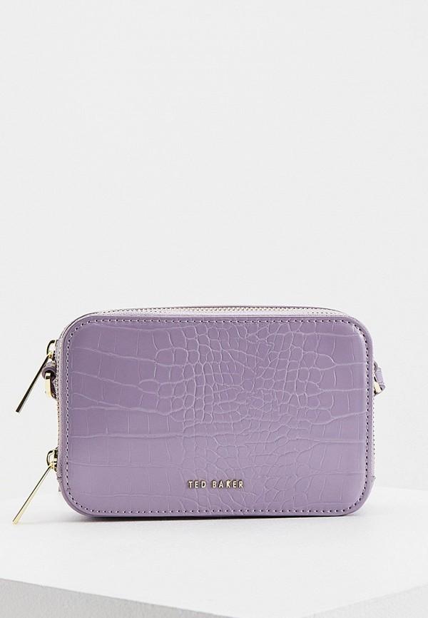 женская сумка через плечо ted baker london, фиолетовая