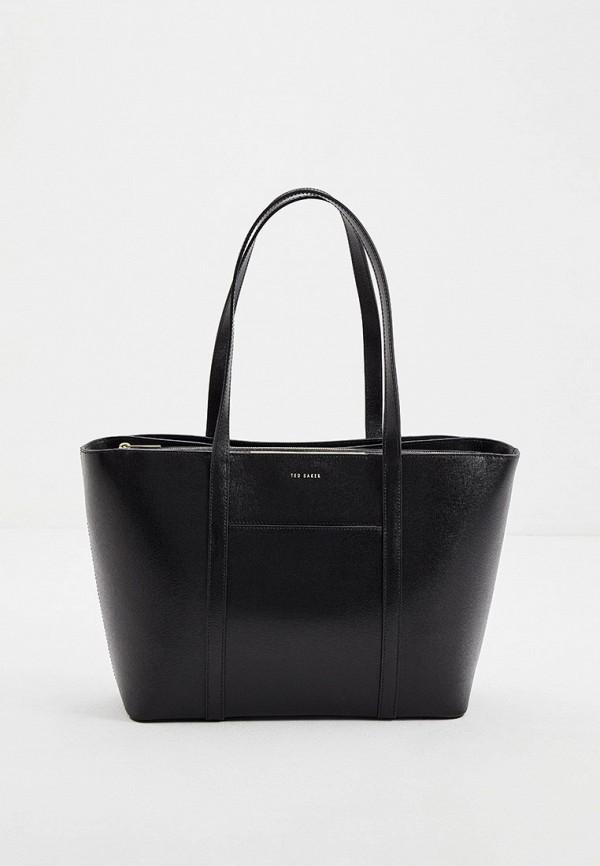женская сумка с ручками ted baker london, черная