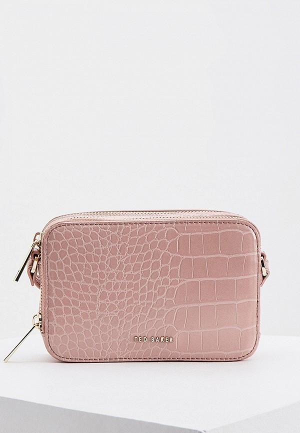 женская сумка через плечо ted baker london, розовая