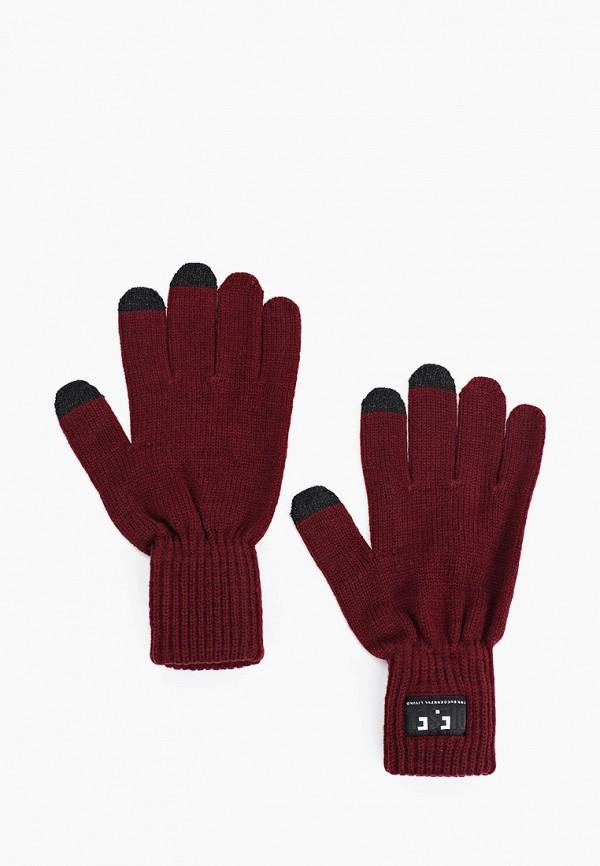 мужские текстильные перчатки diesel, бордовые