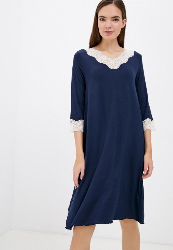 Платье домашнее United Colors of Benetton синий 3Z123C277 RTLAAO175301