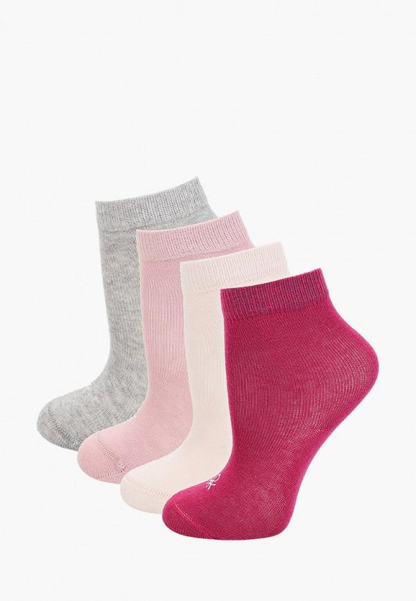 Носки 4 пары United Colors of Benetton разноцветного цвета