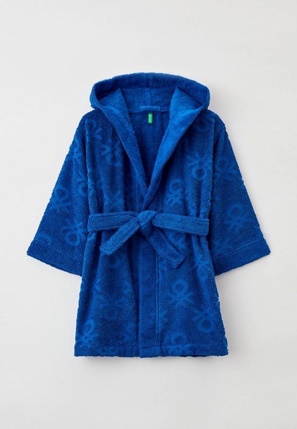 Халат домашний United Colors of Benetton синего цвета