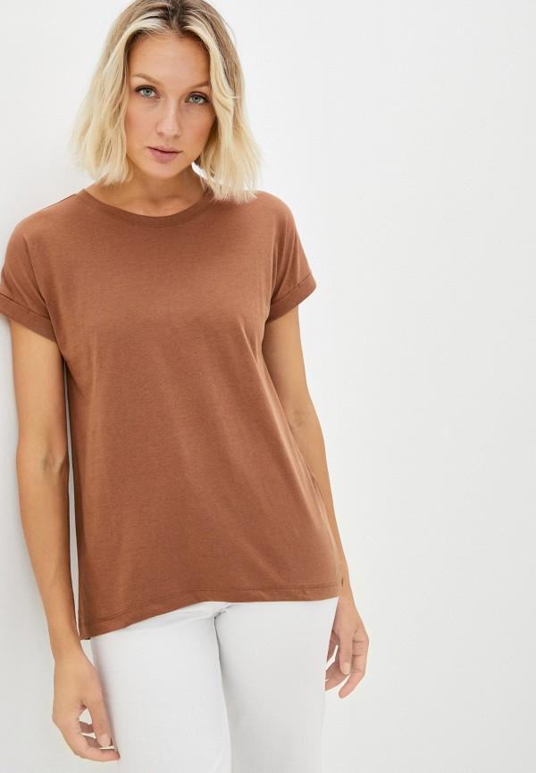 женская футболка jdy, коричневая