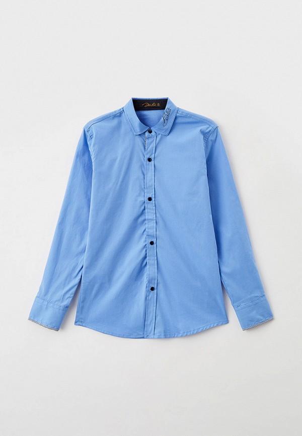 рубашка dali для мальчика, голубая