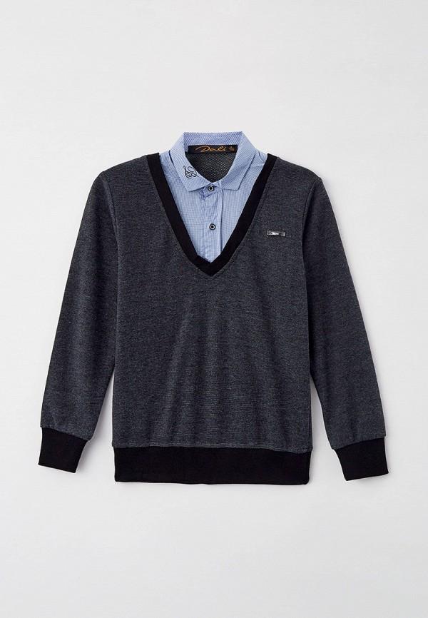 пуловер dali для мальчика, серый