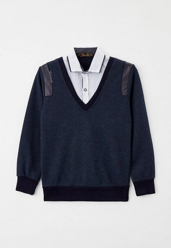 пуловер dali для мальчика, синий