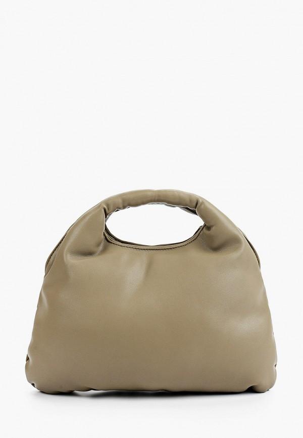 женская сумка с ручками mango, хаки