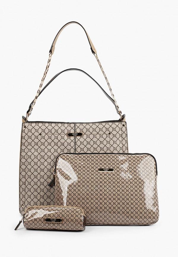 женская сумка с ручками river island, коричневая